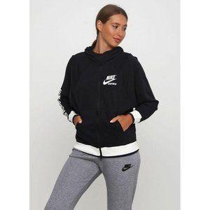 Nike NSW Full Zip Black Hoodie Sweatshirt M